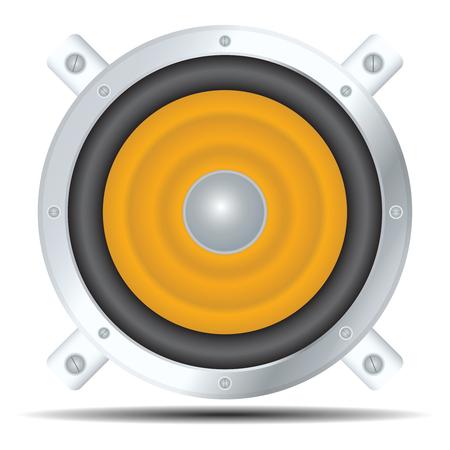 Vector speaker icon. Isolated