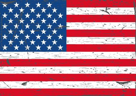 USA flag grunge Ilustração