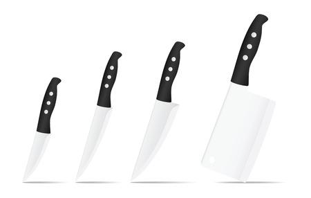 Set of knives.Vector illustration
