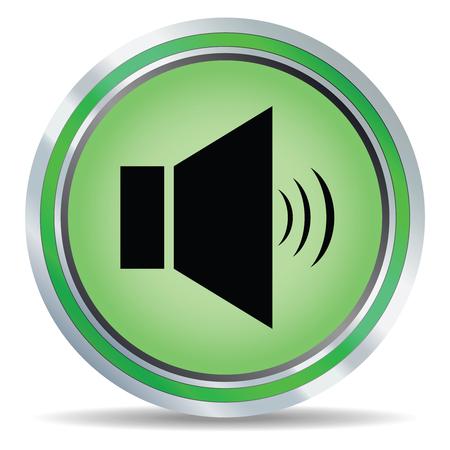 3d vector glossy speaker web icon design element