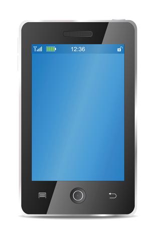 realistic mobile telephone Stock Photo
