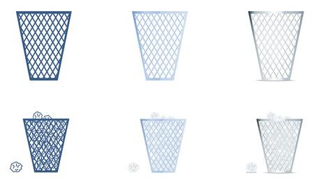 Trash icons set