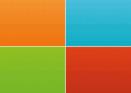Halftone gradients set Ilustração