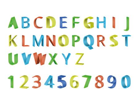 Colorful 3D font Illustration