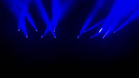 Stage lights during a rock concert Banco de Imagens
