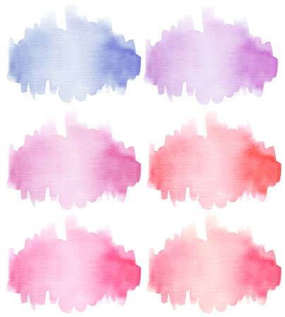 Watercolor spots isolated on a white background. Hand drawn texture