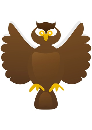 owl  illustration, animal, clip,clip-art, clipart, icon, painting  Vector