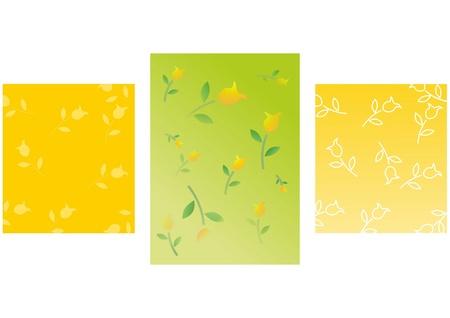gele rozen: achtergrond met gele rozen (behang, retro, samenvatting) Stock Illustratie