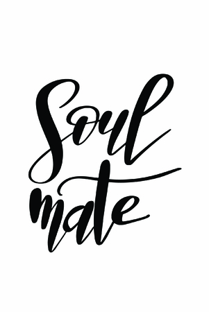 Christmas quote, lettering. Print Design Vector illustration. Soul mate.