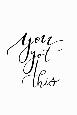 You got this hand drawn lettering ink illustration. Vectores