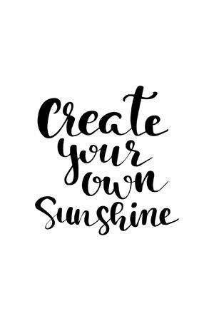 あなた自身の太陽のレタリングを作成します。