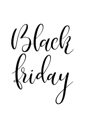 Hand drawn word. Brush pen lettering with phrase Black friday. Çizim