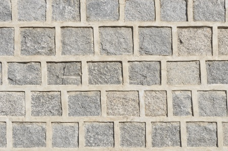 gray granite stone wall pattern Stock Photo