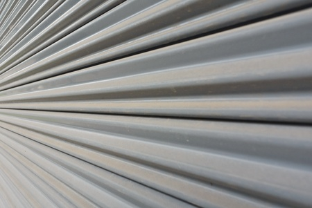 grey metal stripe pattern in angle photo