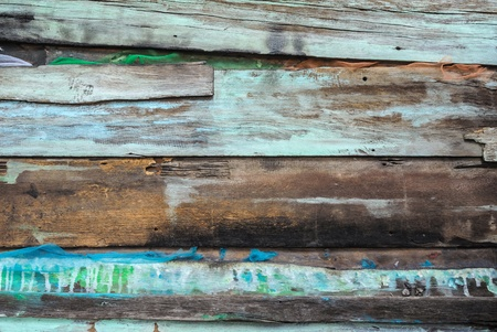 old rustic with splash color wood panel Stock Photo