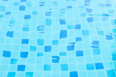 random aqua blue tile in water photo
