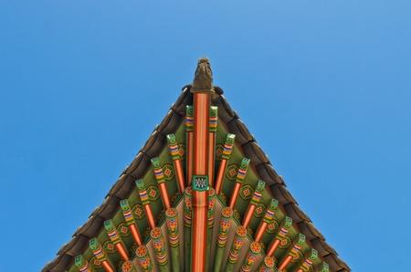 antico stile coreano tetto ornamento decorativo end