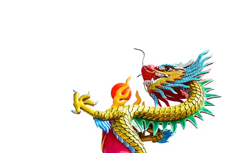 chinese dragon in white background