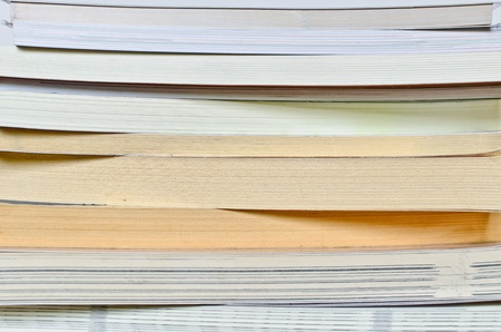 book stack close up Stock Photo