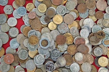 internazionale vecchia moneta Archivio Fotografico