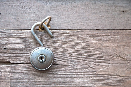 old antique patchlock unlock Stock Photo