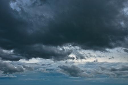 rain cloud in the sky Stock Photo
