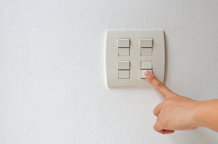 turn electrical switch off photo