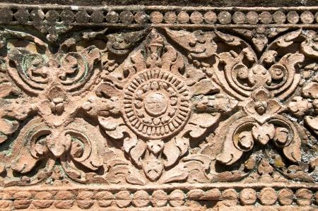 parte antica in pietra thai ritagliarsi pattern in Thailandia