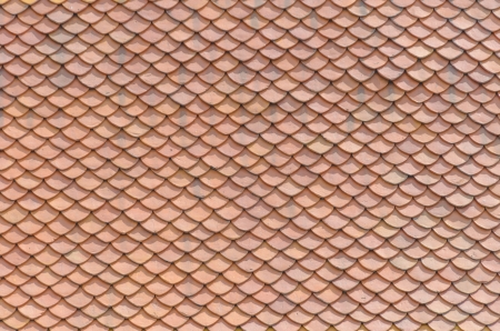 thai traditional native roof clay tile pattern Stock Photo - 15988211