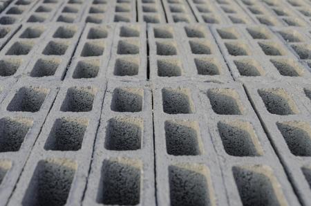blocco di cemento top view bordo di impilamento