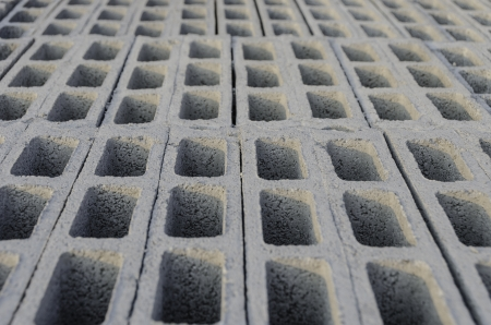cement block top view edge stacking