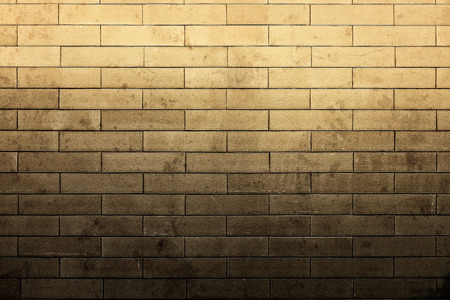 top light up dirty stain with texture brick wall Stock Photo