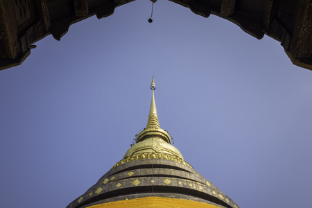 Wat Phra That Lampang Luang gold pagoda in lampang province northern region of Thailand