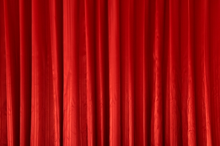 Red curtain textures Stock Photo