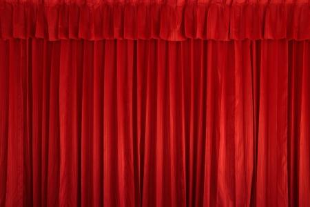 cortinas rojas: Fondo de cortina roja Foto de archivo