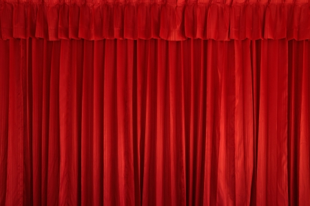 velvet texture: Tenda sfondo rosso Archivio Fotografico