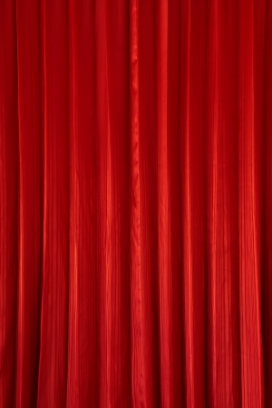 Red Curtain Background Photo