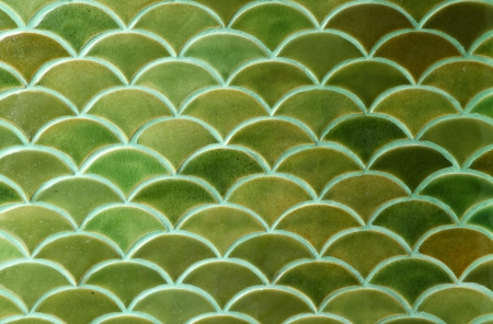 Green ceramic tiles texture background photo