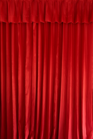 Red curtain background Stock Photo - 15415748