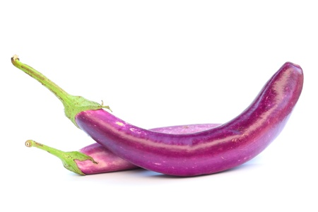 Purple eggplant  isolated on white
