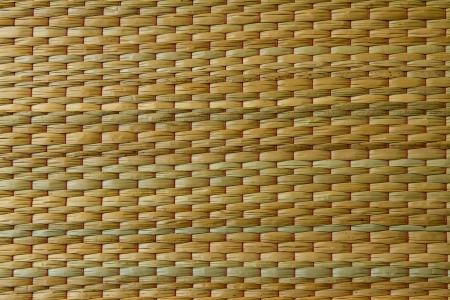 woven palm leaves.