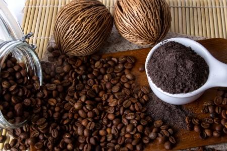 Coffee skin scrub for spa  Reklamní fotografie