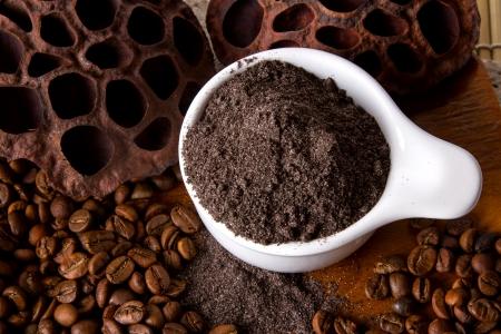 スパのコーヒー皮膚のスクラブ。
