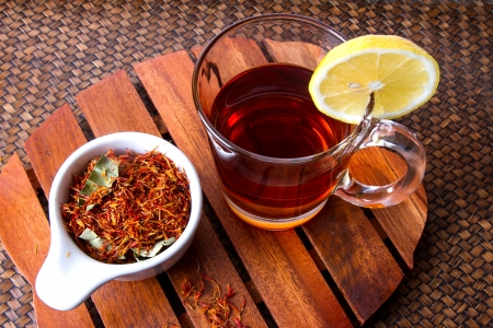 reducing: Safflower herbal tea for reducing blood pressure.