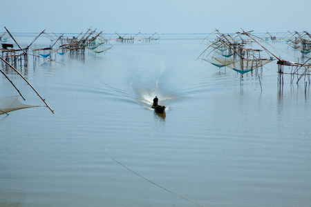 southern of thailand: Traditional fishing tool in southern Thailand. Stock Photo