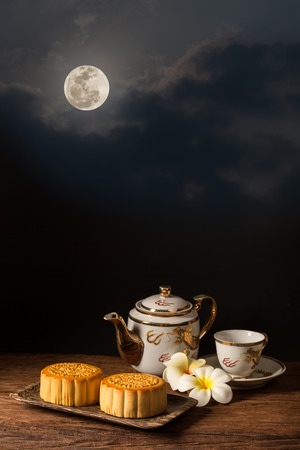 Chinese Mooncake for the Lunar Harvest Festival Reklamní fotografie