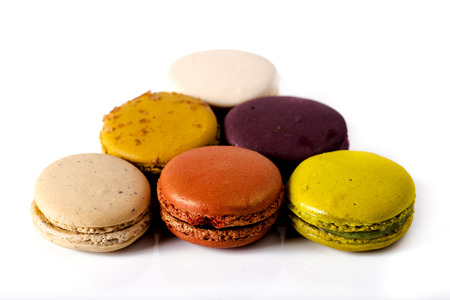 coveted: Colorful macaroons, the most coveted cookie in France. Stock Photo