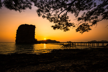 notional: Sunrise beyond Tarutao notional park, southern Thailand. Stock Photo