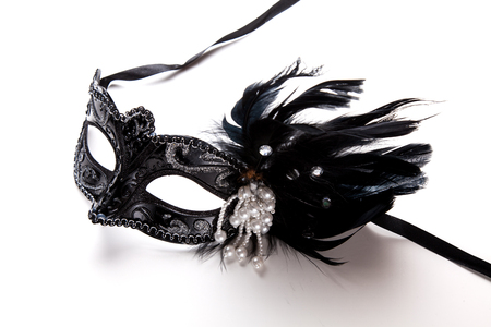 stage costume: Fancy mask for party. Stock Photo