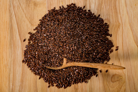 organic flax seed: Flax seed, organic food for healthy eating.